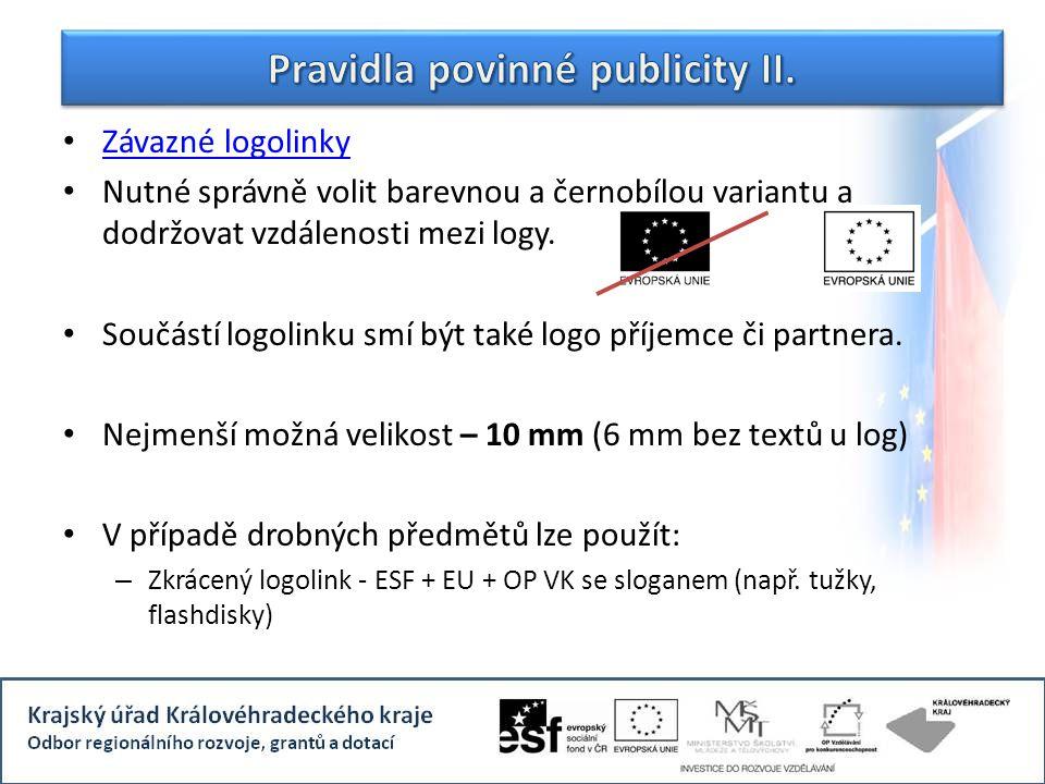 Pravidla povinné publicity II.