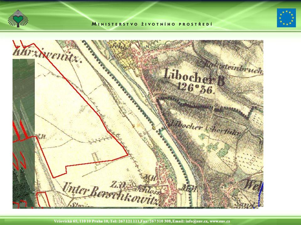 Vršovická 65, 110 10 Praha 10, Tel: 267 121 111,Fax: 267 310 308, Email: info@env.cz, www.env.cz Srovnání s historickou mapou