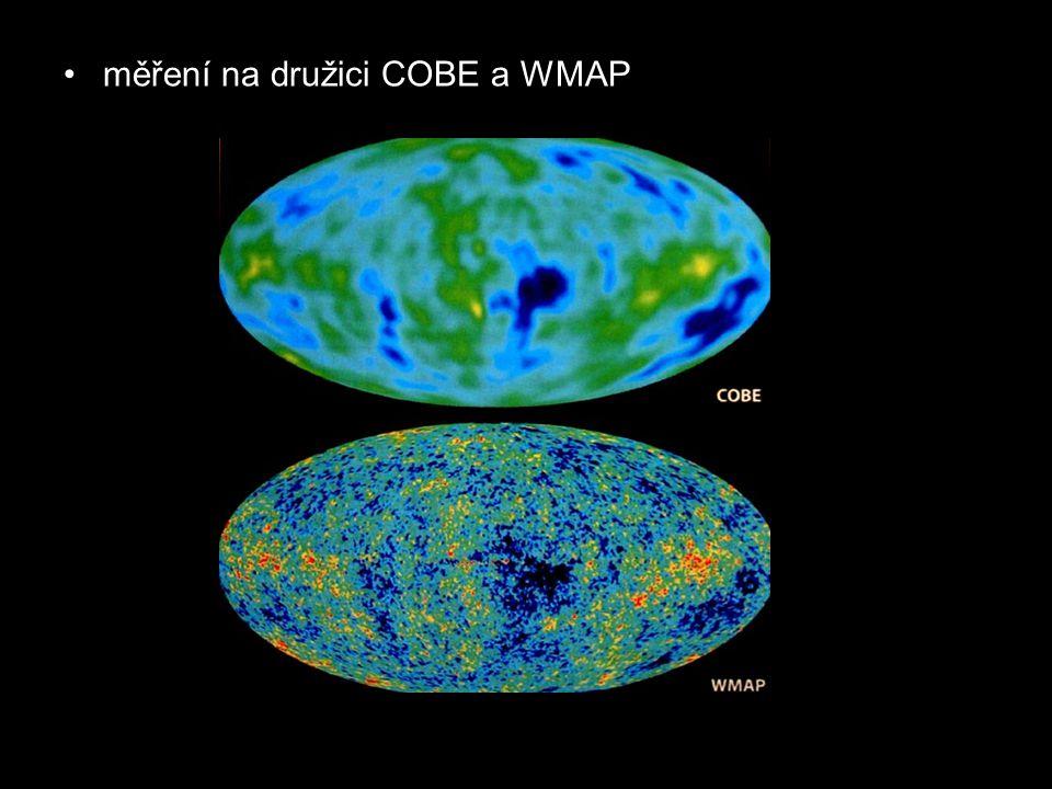 měření na družici COBE a WMAP