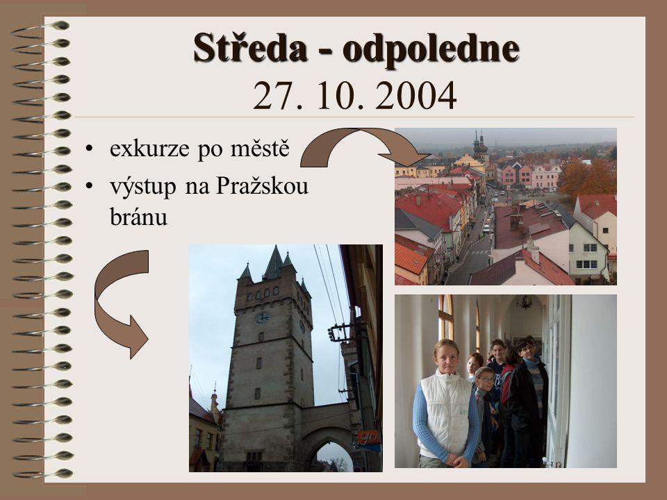 Středa - odpoledne Středa - odpoledne 27. 10. 2004 návštěva muzea beseda o J. S. Guthu Jarkovském