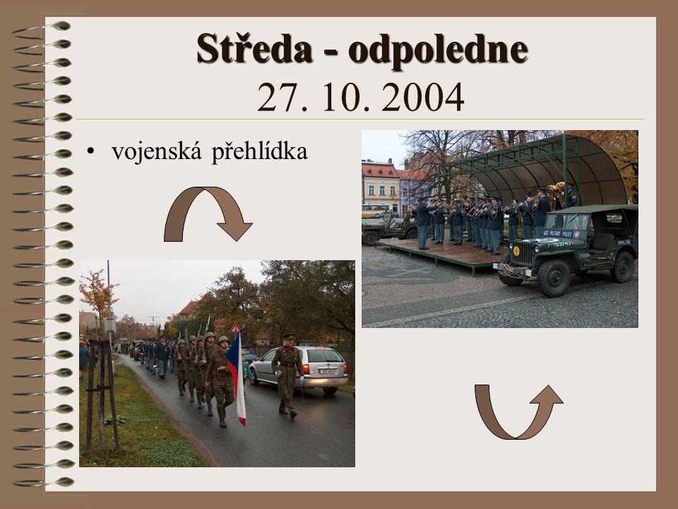 Středa - odpoledne Středa - odpoledne 27. 10. 2004 exkurze po městě výstup na Pražskou bránu