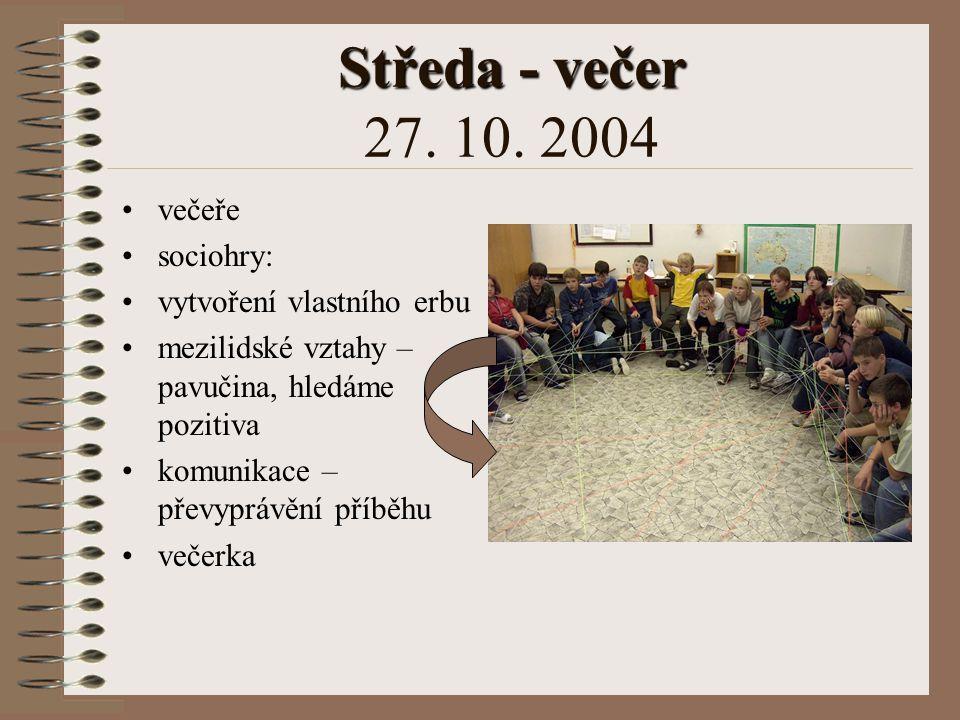 Středa - odpoledne Středa - odpoledne 27. 10. 2004 vojenská přehlídka