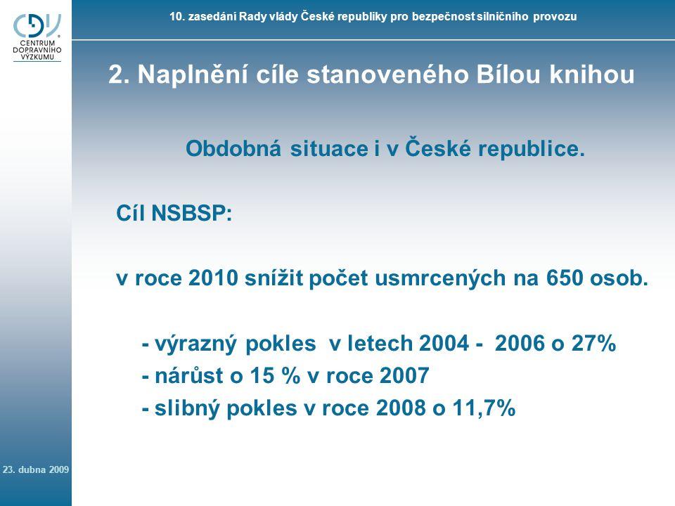 10. zasedání Rady vlády České republiky pro bezpečnost silničního provozu 23.