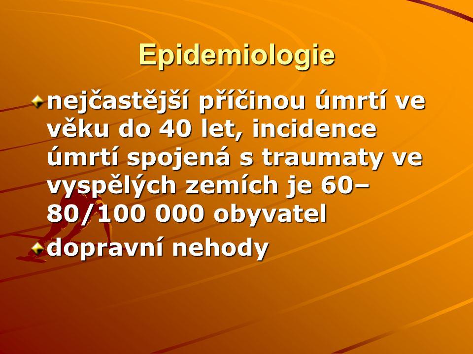 Rozdělení úmrtí Bezprostřední – 50 % v průběhu prvních 30 min.