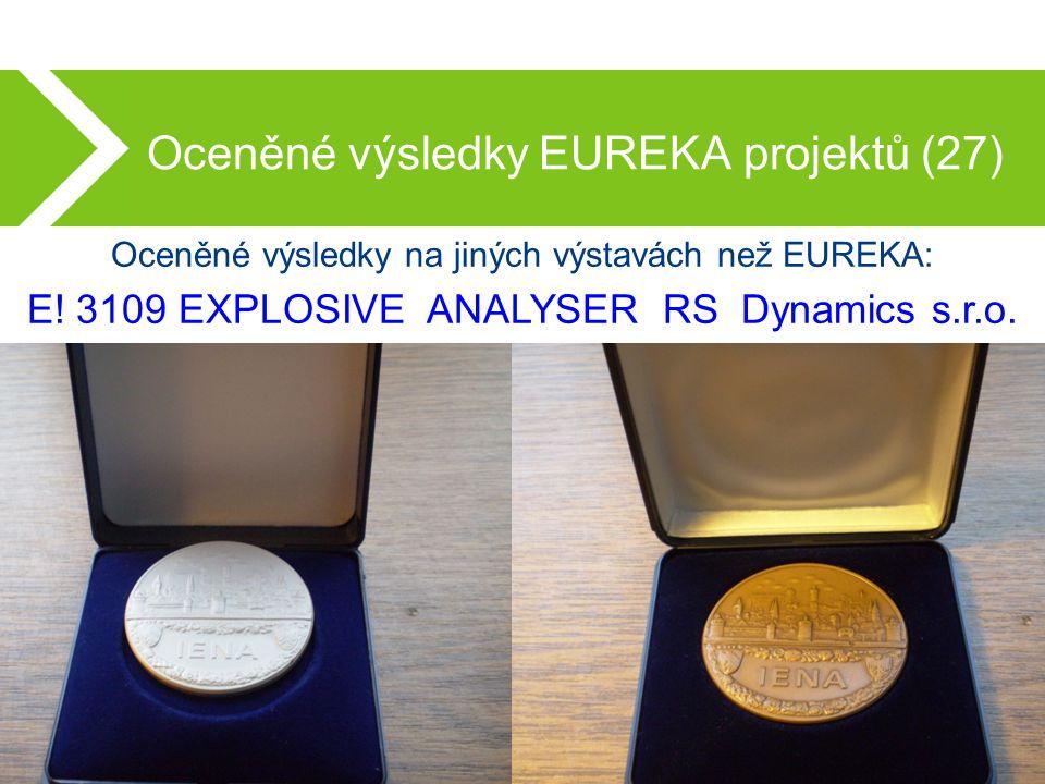 Oceněné výsledky EUREKA projektů (27) Oceněné výsledky na jiných výstavách než EUREKA: E.