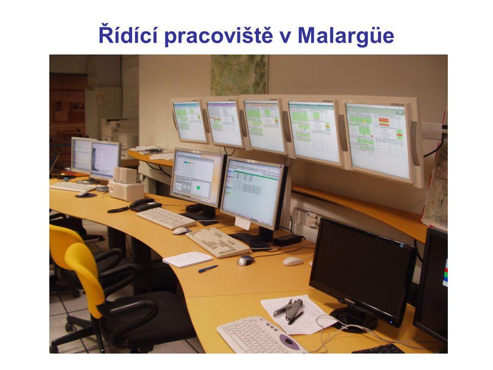 Řídící pracoviště v Malargüe