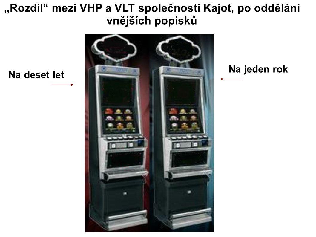 """""""Rozdíl mezi VHP a VLT společnosti Kajot, po oddělání vnějších popisků Na deset let Na jeden rok"""