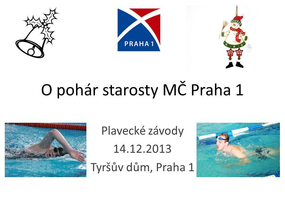 O pohár starosty MČ Praha 1 Plavecké závody 14.12.2013 Tyršův dům, Praha 1