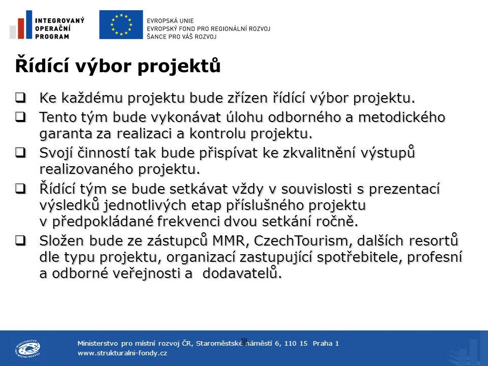 Ministerstvo pro místní rozvoj ČR, Staroměstské náměstí 6, 110 15 Praha 1 www.strukturalni-fondy.cz lll Řídící výbor projektů  Ke každému projektu bu