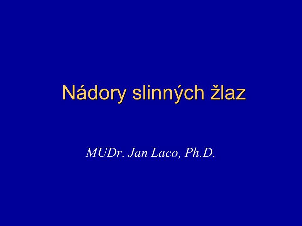 Nádory slinných žlaz MUDr. Jan Laco, Ph.D.