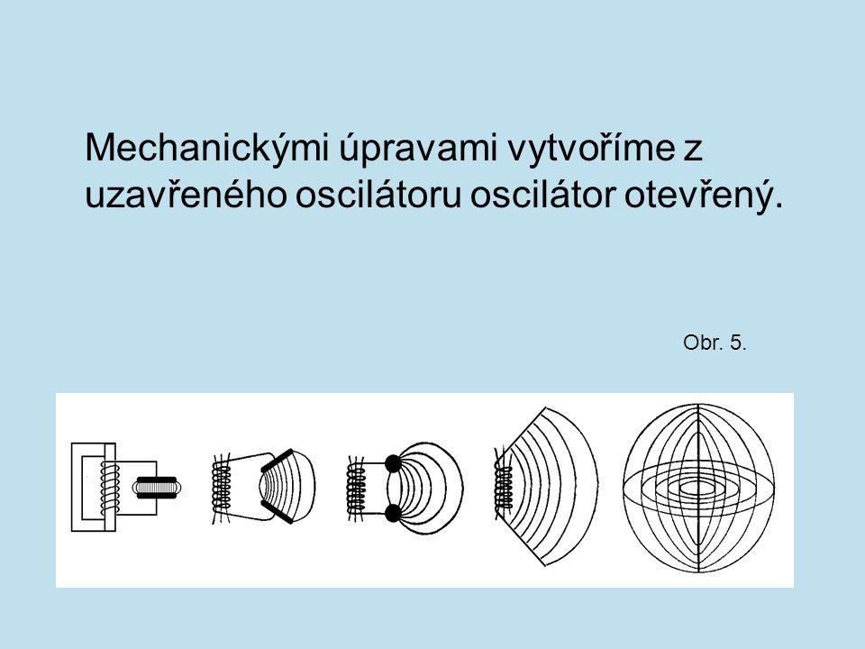 Kolem otevřeného oscilátoru periodicky vzniká elektrické a magnetické pole - elektromagnetické pole.