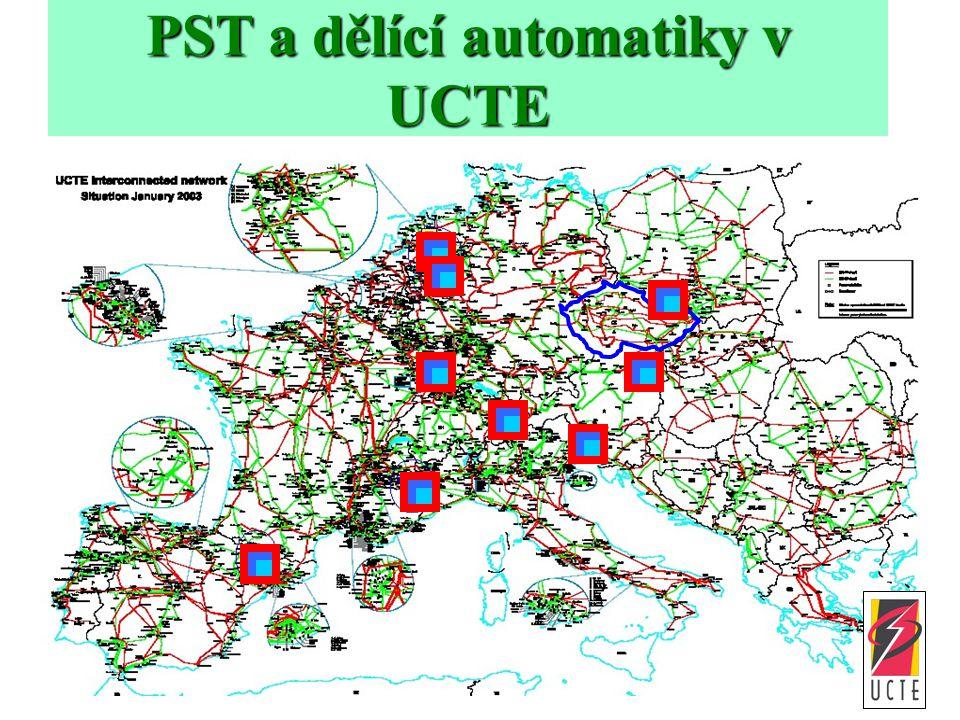 PST a dělící automatiky v UCTE