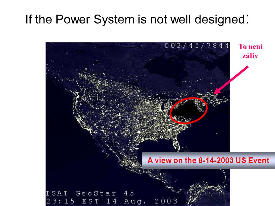 If the Power System is not well designed : A view on the 8-14-2003 US Event To není záliv