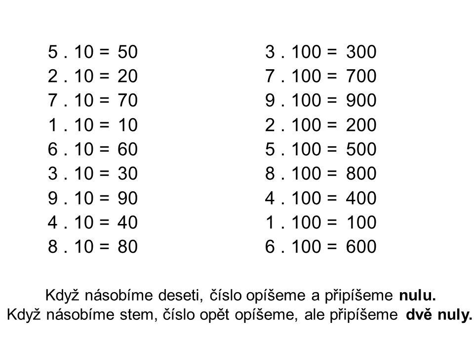 5.10 = 2. 10 = 7. 10 = 1. 10 = 6. 10 = 3. 10 = 9.
