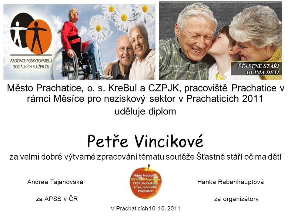 Andrea Tajanovská Hanka Rabenhauptová za APSS v ČR za organizátory V Prachaticích 10. 10. 2011 Město Prachatice, o. s. KreBul a CZPJK, pracoviště Prac