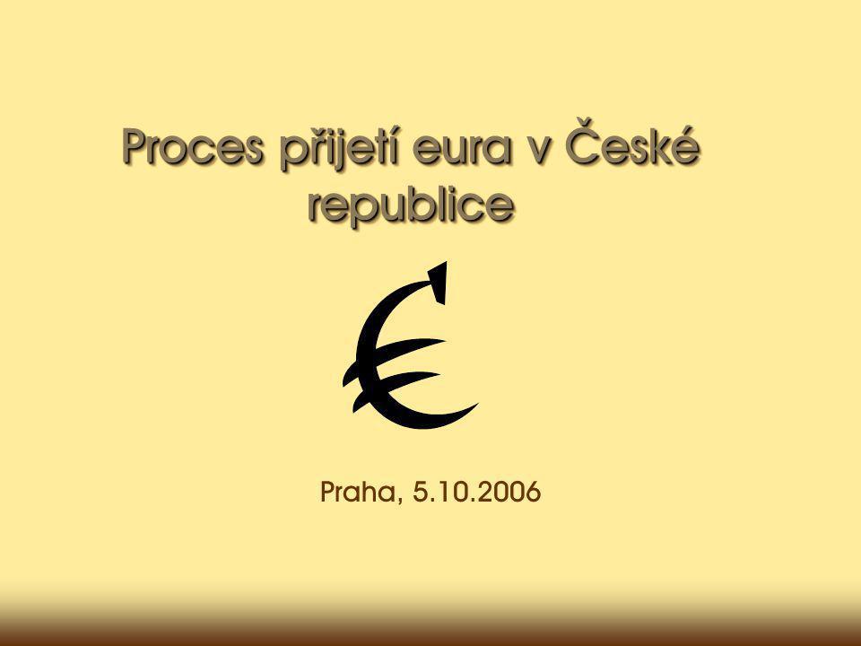 Proces p ř ijetí eura v České republice Praha, 5.10.2006