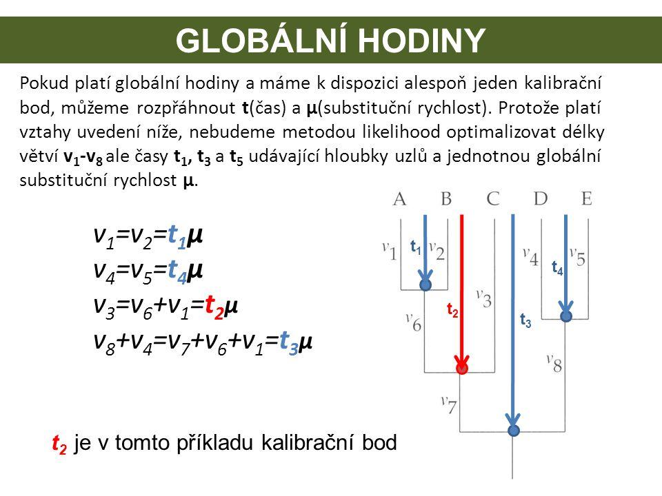 GLOBÁLNÍ HODINY t1t1 t2t2 t3t3 t4t4 Pokud platí globální hodiny a máme k dispozici alespoň jeden kalibrační bod, můžeme rozpřáhnout t(čas) a μ(substit