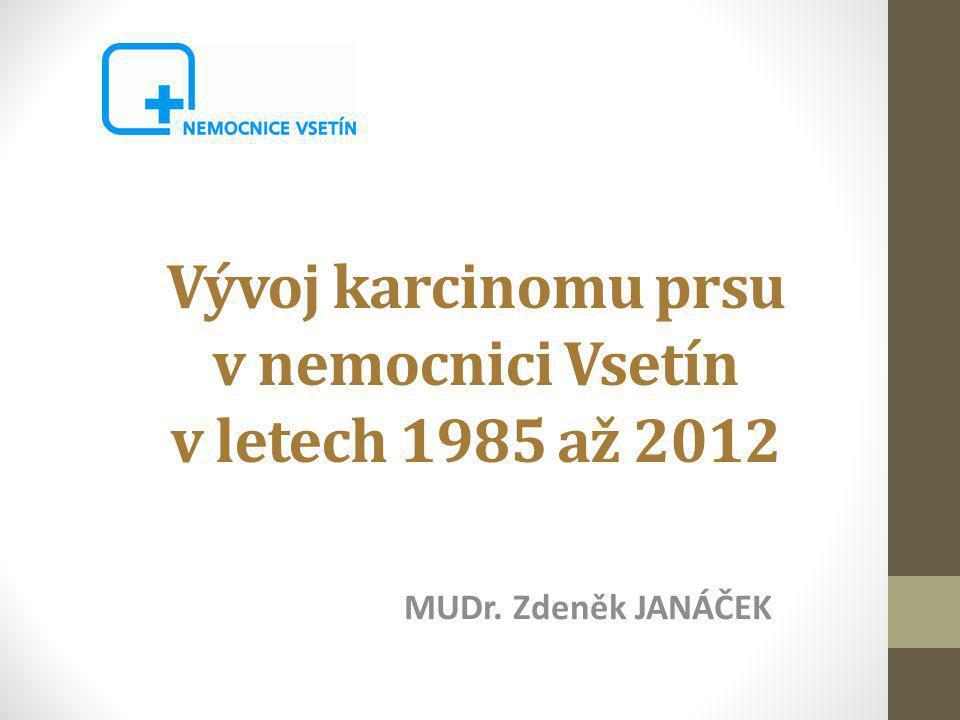Vývoj karcinomu prsu v nemocnici Vsetín v letech 1985 až 2012 MUDr. Zdeněk JANÁČEK