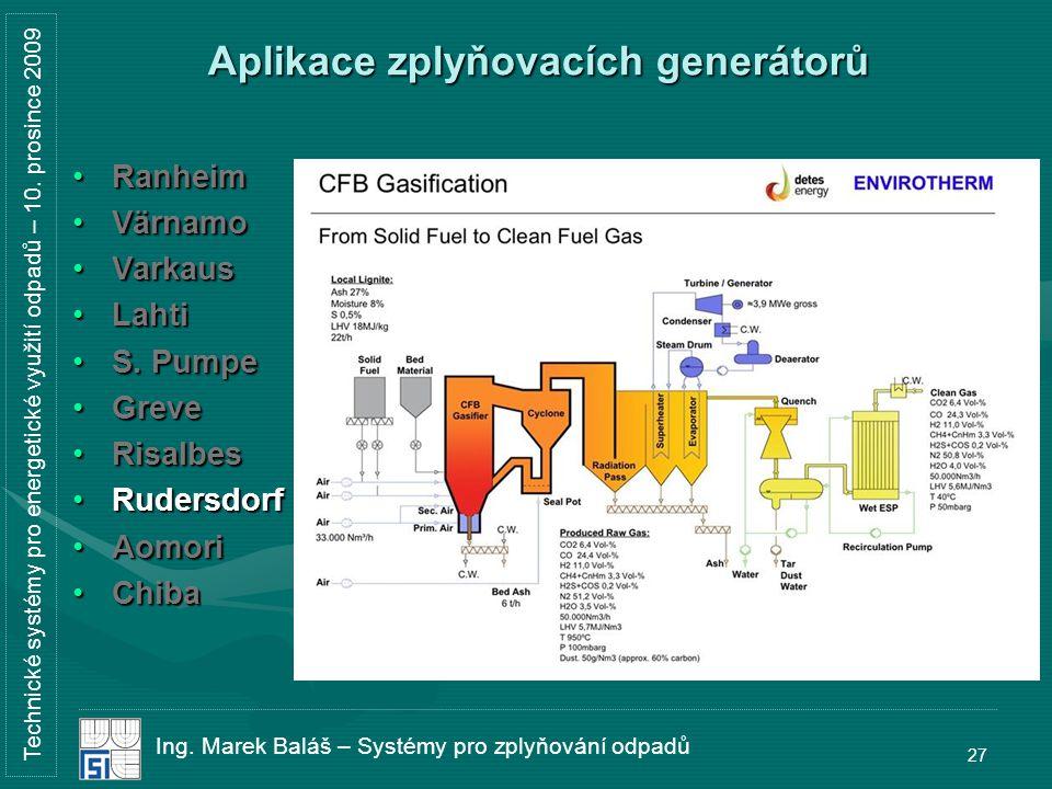 Technické systémy pro energetické využití odpadů – 10.