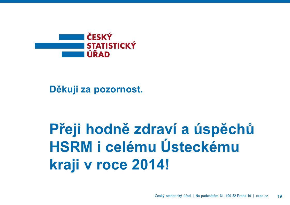 Český statistický úřad | Na padesátém 81, 100 82 Praha 10 | czso.cz 19 Děkuji za pozornost.