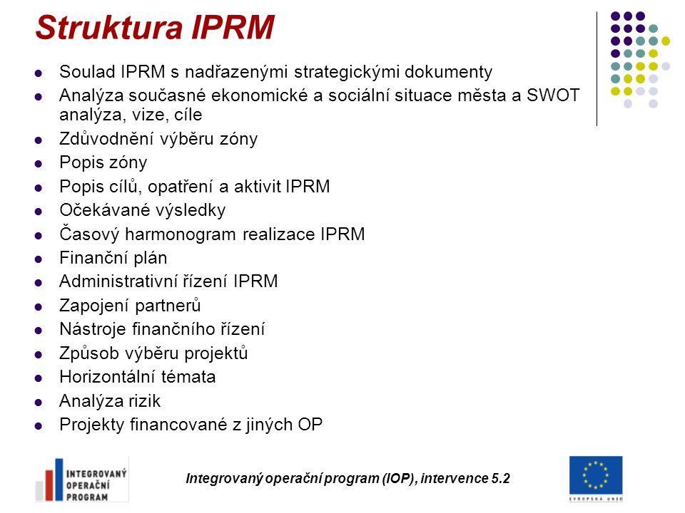 Struktura IPRM Soulad IPRM s nadřazenými strategickými dokumenty Analýza současné ekonomické a sociální situace města a SWOT analýza, vize, cíle Zdůvo