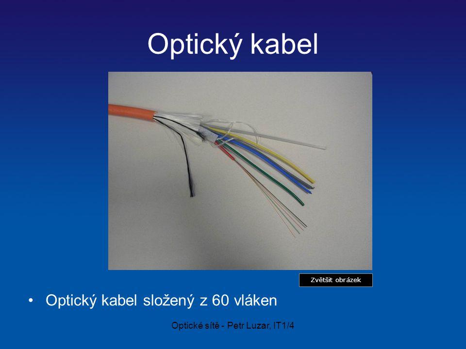 Optické sítě - Petr Luzar, IT1/4 Optický kabel