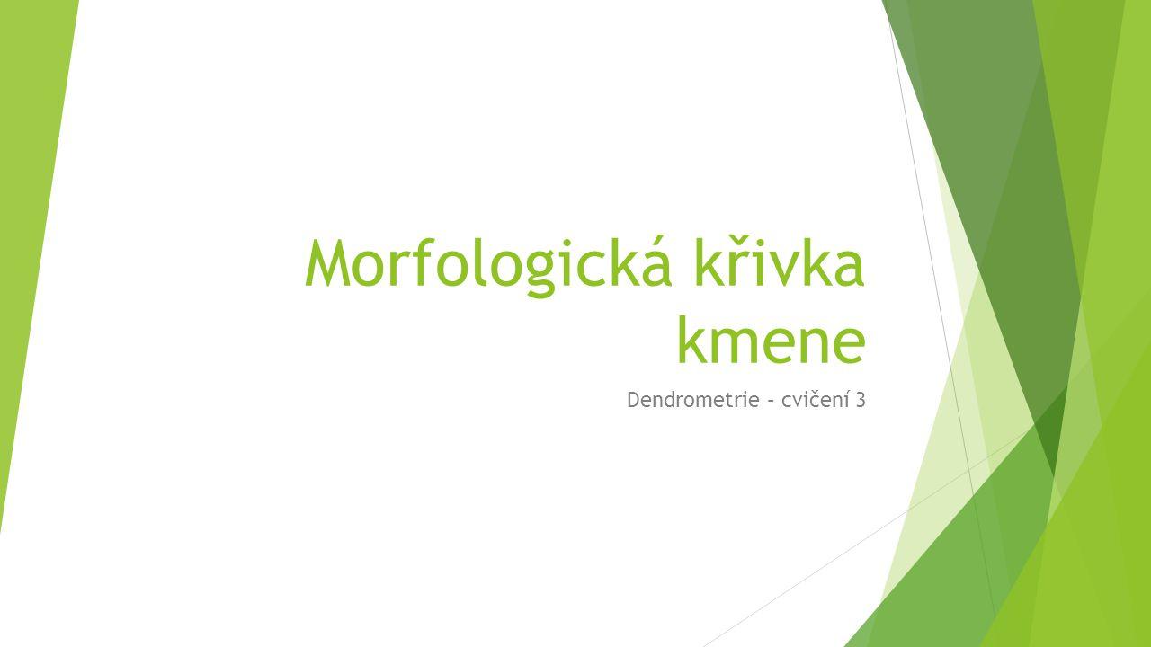 Morfologická křivka kmene Dendrometrie – cvičení 3