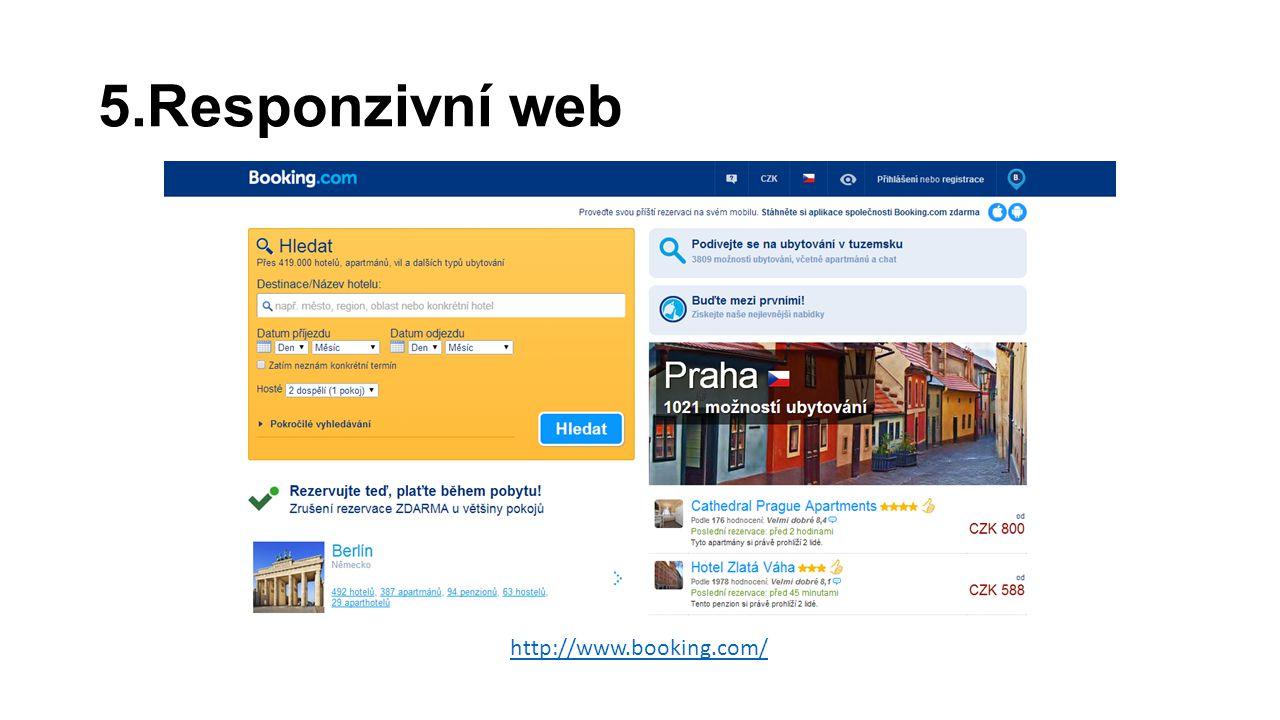 5.Responzivní web http://www.booking.com/