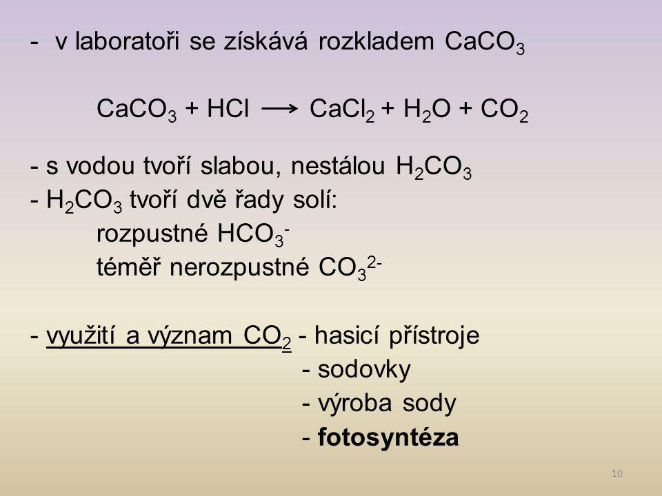 11 2) Karbidy - binární sloučeniny a)iontové - př.