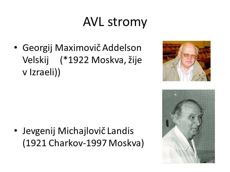 AVL stromy Georgij Maximovič Addelson Velskij(*1922 Moskva, žije v Izraeli)) Jevgenij Michajlovič Landis (1921 Charkov-1997 Moskva)