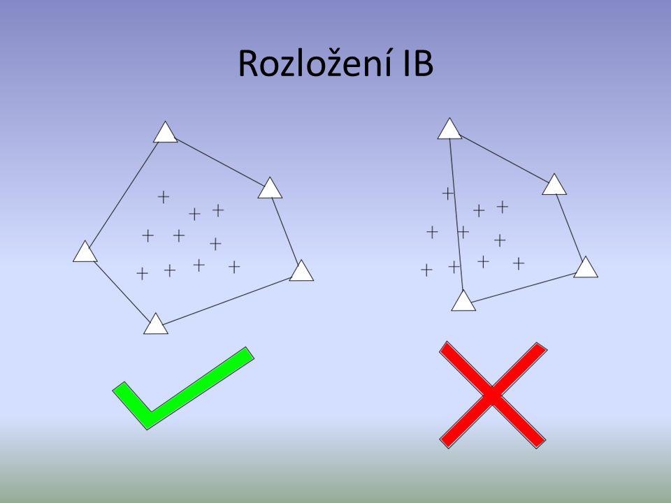 Shodnostní transformace Zachovává tvar a rozměr obrazců 3 Transformační parametry: - dva posuny - úhel pootočení Pro výpočet parametru je nutné znát alespoň 2 IB