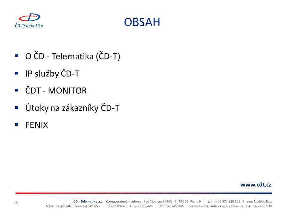 Důležité milníky v historii 3  1994 Založení ČD - Telekomunikace  1999 Začátek výstavby optické sítě  2002 Spuštění provozu SDH sítě, zahájení obchodního působení  2005 Rozšíření nabídky o produkty z oblasti informatiky.