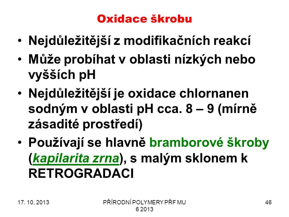 Oxidace škrobu 17.10.
