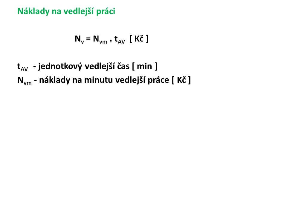 Náklady na vedlejší práci N v = N vm.
