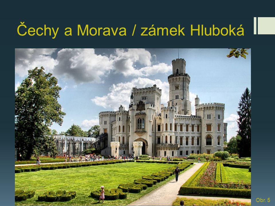 zámek Lednice Původně barokní zámek prochází přestavbou v duchu novogotiky.