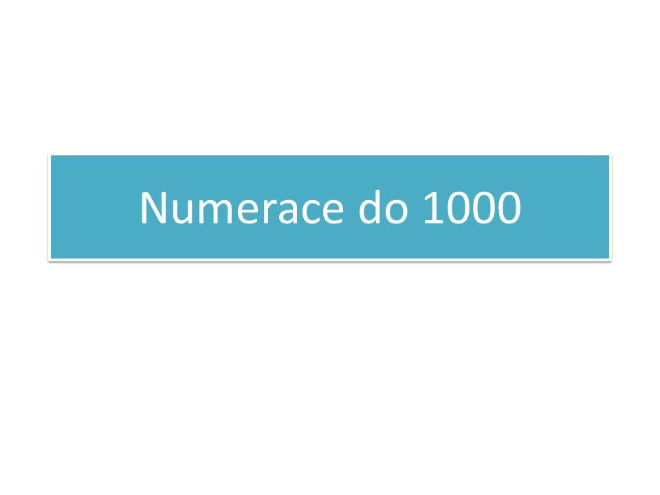 Numerace do 1000