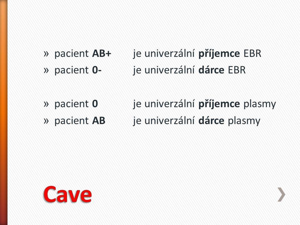 » pacient AB+ je univerzální příjemce EBR » pacient 0-je univerzální dárce EBR » pacient 0 je univerzální příjemce plasmy » pacient AB je univerzální