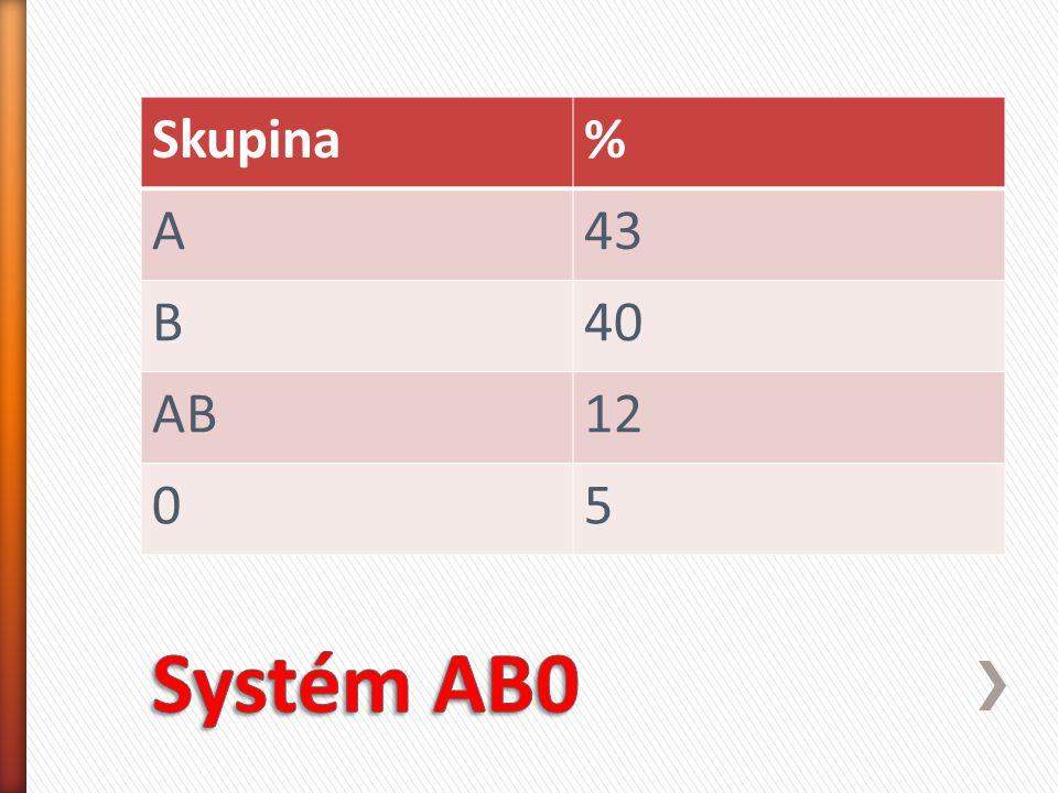 Skupina% A43 B40 AB12 05