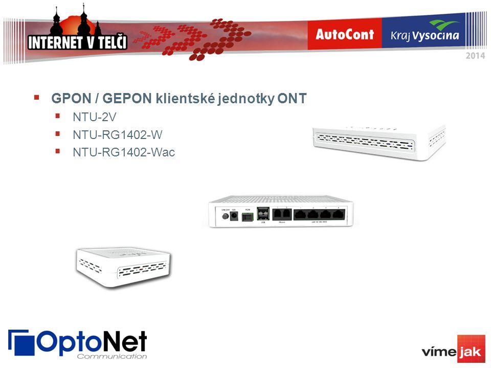  GPON / GEPON klientské jednotky ONT  NTU-2V  NTU-RG1402-W  NTU-RG1402-Wac