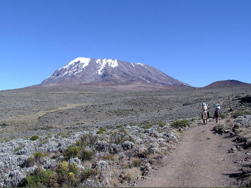 Vysoká průměrná nadmořská výška – značnou část tvoří náhorní tabulová plošina Nejvyšší hora – Kilimandžáro (5895 m n. m.) Vyhaslá sopka Denně přiláká