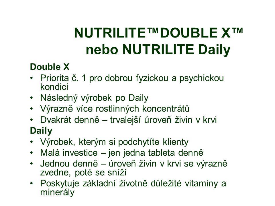 NUTRILITE™DOUBLE X™ nebo NUTRILITE Daily Double X Priorita č.