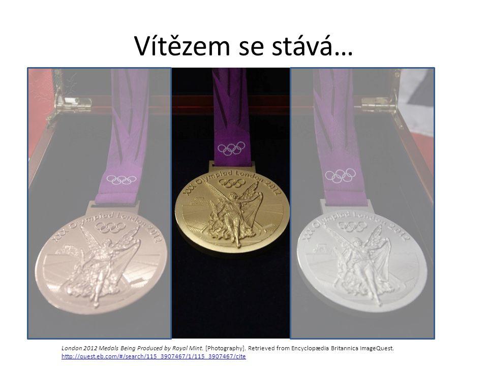 Vítězem se stává… London 2012 Medals Being Produced by Royal Mint.