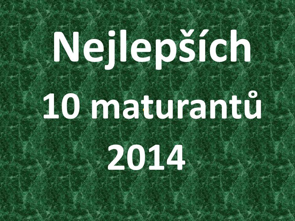 Nejlepších 2014 10 maturantů