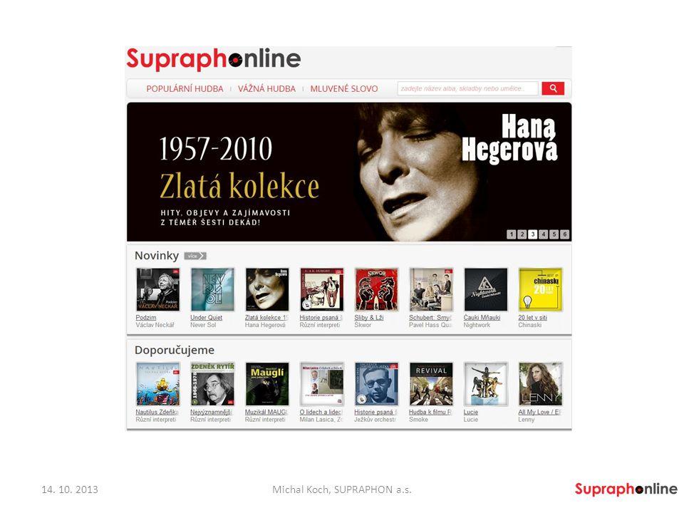 Děkuji za pozornost.Michal Koch michal.koch@supraphon.cz www.supraphonline.cz 14.