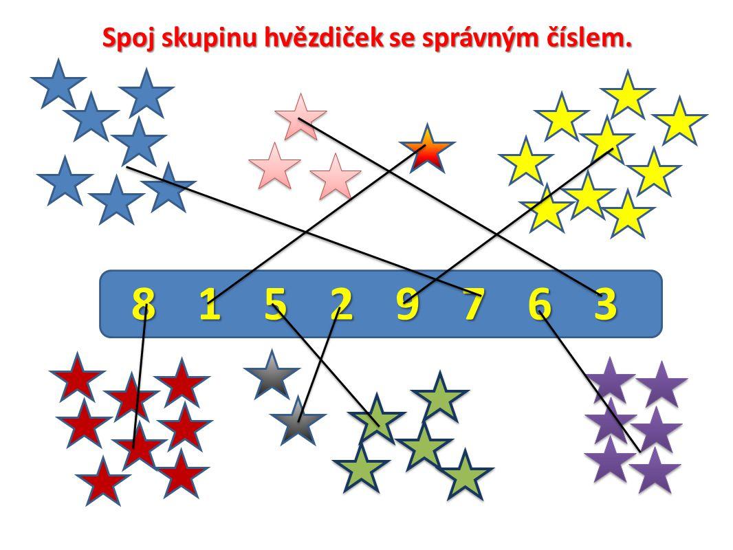 Spoj skupinu hvězdiček se správným číslem. 81529763815297638152976381529763