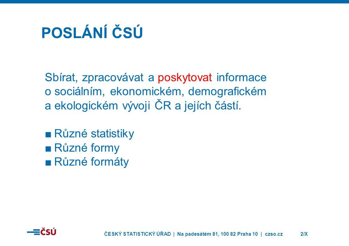 ČESKÝ STATISTICKÝ ÚŘAD | Na padesátém 81, 100 82 Praha 10 | czso.cz3/X INTERNETOVÁ PREZENTACE