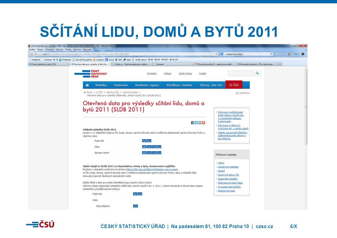 ČESKÝ STATISTICKÝ ÚŘAD | Na padesátém 81, 100 82 Praha 10 | czso.cz6/X VEŘEJNÁ DATABÁZE