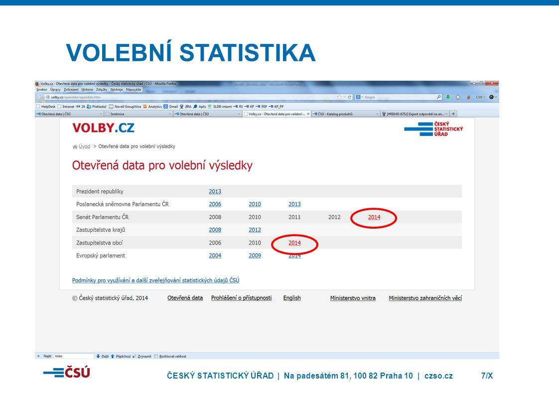 ČESKÝ STATISTICKÝ ÚŘAD | Na padesátém 81, 100 82 Praha 10 | czso.cz7/X VOLEBNÍ STATISTIKA