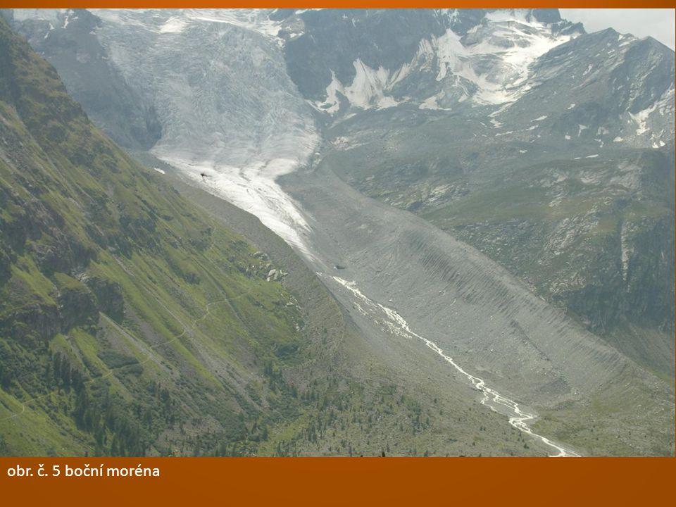 obr. č. 1 ledovcové údolí – tvar písmenu U obr. č. 2 ledovcové údolí = trogobr. č. 3 kar = ledovcový kotel obr. č. 4 fjord – mořem zalité ledovcové úd