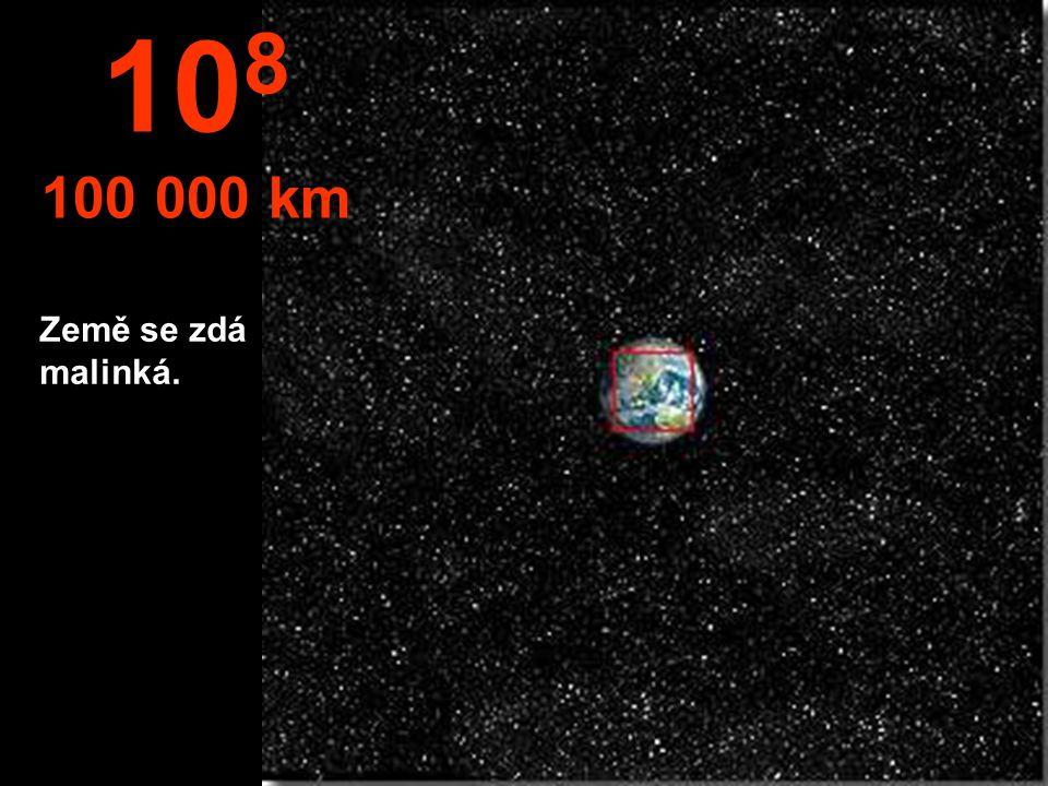 Severní hemisféra Země a část Jižní Ameriky. 10 7 10.000 km